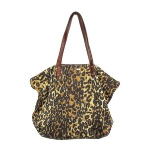 Rebecca Minkoff Leopard Denim Canvas Slouchy Tote
